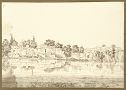 General view of the city of Gaya from the Fulga River (Bihar). 29 December 1824